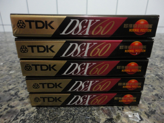 Lote 5 Fitas K7 Cassete Tdk Ds-x 60 Type I