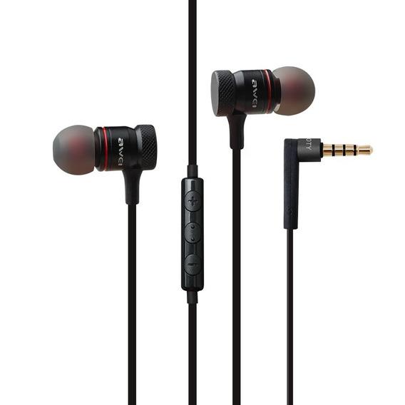 Fone De Ouvido Metal Com Controle E Microfone Awei Es70ty