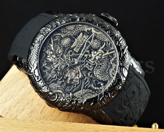 Relógio Invicta 25081 Preto S1 Dragão Automático *** Yakuza