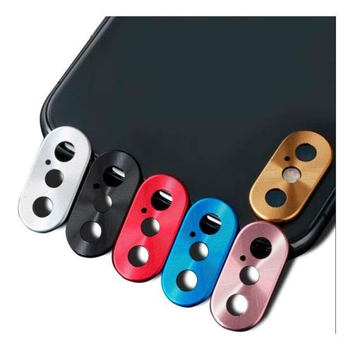 Protector Vidrio Camara iPhone XS Max Aluminio Anti-impacto
