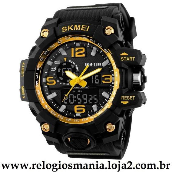 Relógio Masculino Esporte Skmei 1155 Amarelo