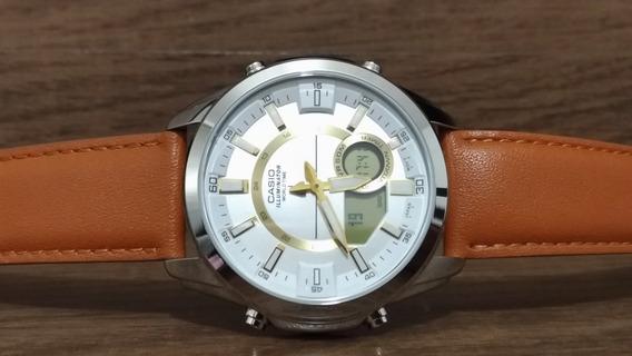 Relógio Casio Masculino Couro Amw-810l-5avdf - Zerado