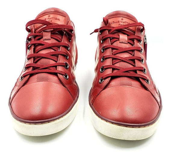 Tennis Louis Vuitton Sneakers Red Daimer Zipper Jc21172
