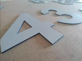 Numero Residencial Aluminio