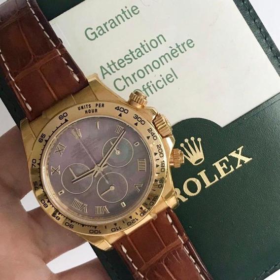Rolex Daytona Ouro Amarelo Mostrador Madrepérola Completo