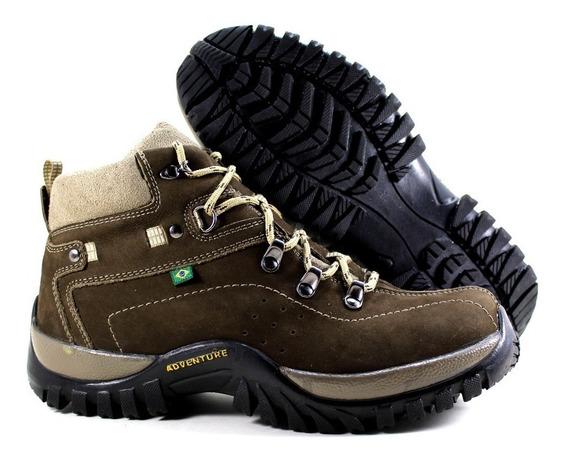 Sapato Masculino Couro Palmilha Conforto Cadarço Passeio