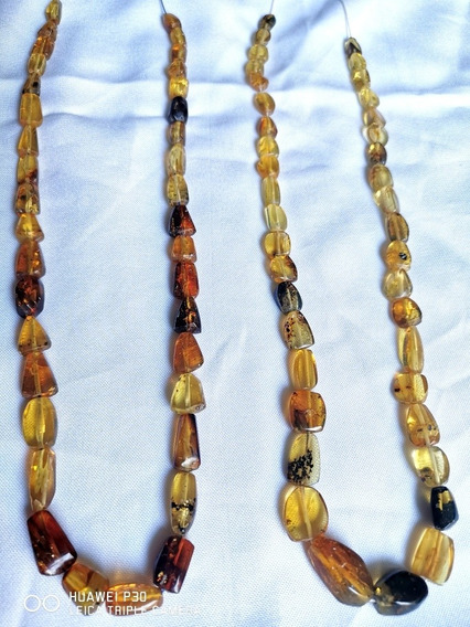 Collar De Ámbar En Forma Natural, Auténtico De Chiapas Can1
