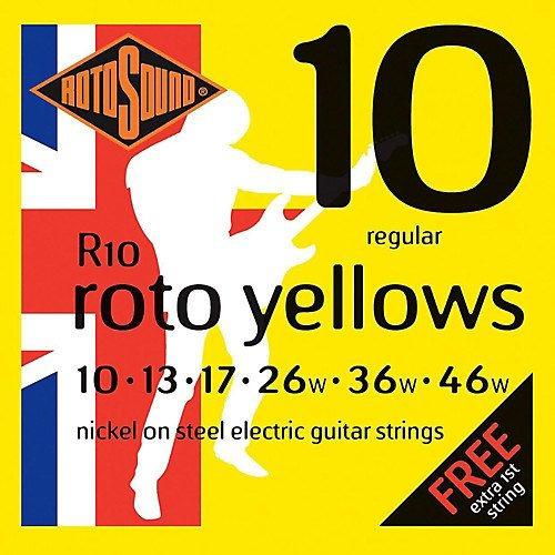 Imagen 1 de 2 de Encordado Guit. Eléct. Rotosound Roto Yellows R10 010-046