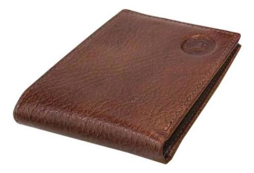 Billetera Los Robles Polo Time 0078 marrón cuero