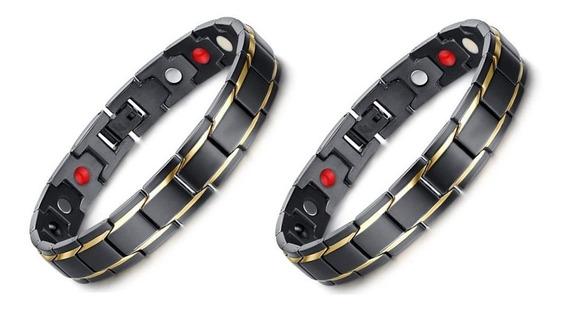 Kit 02 Pulseira Bracelete Masculino Dois Filetes Promoção!