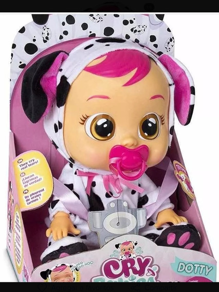 Muñeca Cry Babies Dotty Dalmata 100% Original (65) Usa Llora