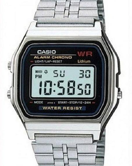 Relógio Casio Vintage Unissex Quadrado Prata A159wa-n1df