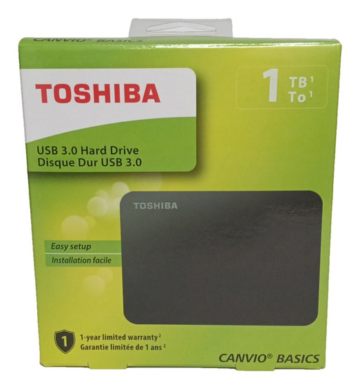 Disco Duro Externo 1tb Toshiba Canvio Basics Nuevo Sellado