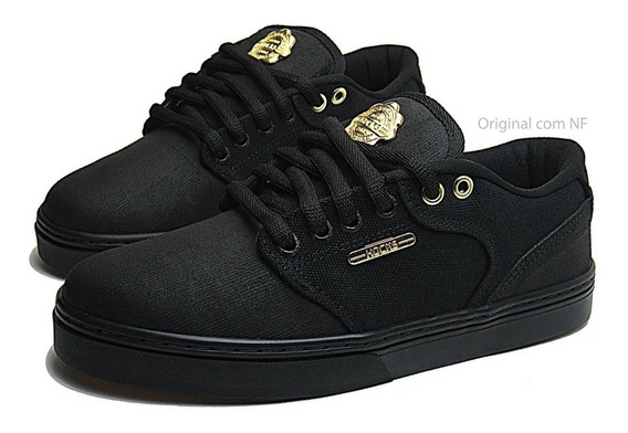 Tênis Hocks Skate Montreal Black/gold Preto E Dourado Hocks