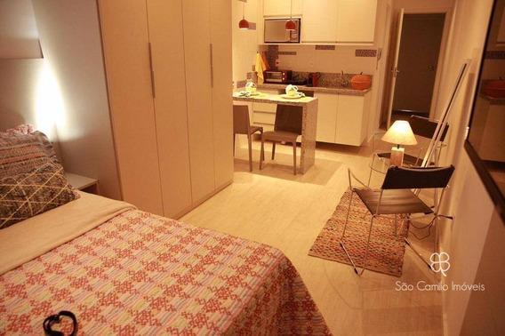 Flat Com 1 Dormitório Para Alugar, 27 M² Por R$ 2.000,00/mês - Granja Viana - Cotia/sp - Fl0003