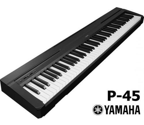 yamaha p45 b piano digital compacto y de 88 teclas en negro 10 en mercado libre. Black Bedroom Furniture Sets. Home Design Ideas