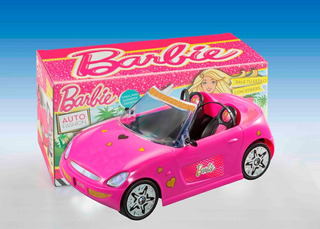 Auto Barbie Descapotable Incluye Stickers Original
