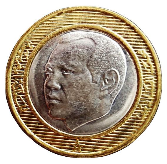 Marruecos Moneda 10 Dirhams Año 2002 Bimetálica Excelente