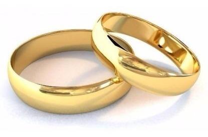 Par De Aliança De Ouro Maciço Com 6 Gramas Tradicional