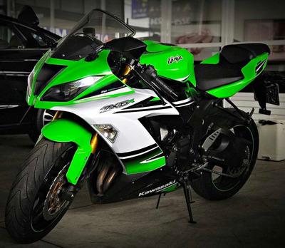 Kawasaki Ninja Zx 6r 636. Verde 2014/15