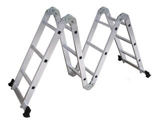 Escalera Multifuncion Articulada Aluminio 3x4 Shimura 3,70mt