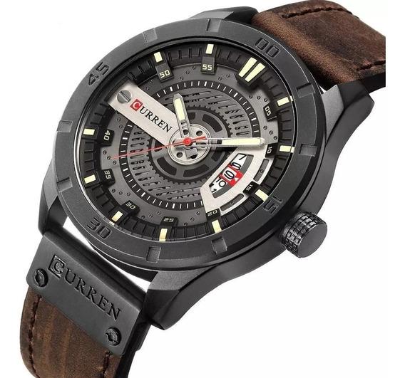 Relógio Masculino Curren Couro Original + Envio 24hrs