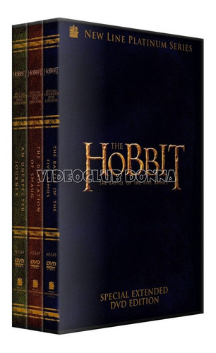 El Hobbit Version Extendida Saga Completa 3 Dvd Coleccion