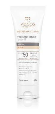 Protetor Solar Mousse Mineral Fps 50 Peach 50g