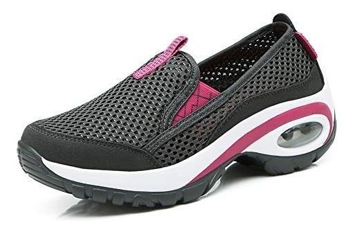 Cnporter Zapatillas De Paseo Para Mujer Con Plataforma Desli