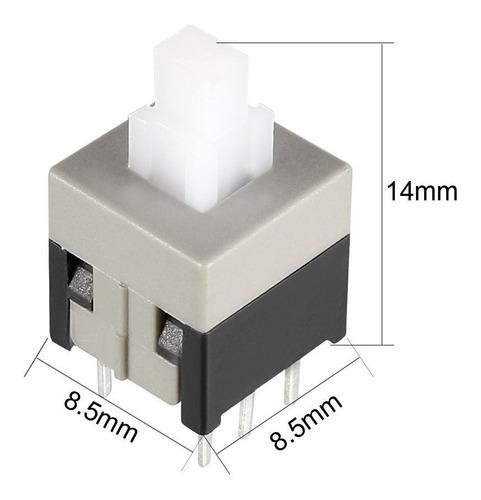 Imagen 1 de 3 de Lote De 2 Boton Pulsador Con Retencion 8.5x8.5 6 Pine -pdiy-
