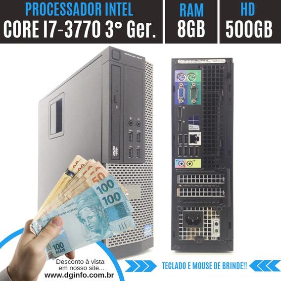 Pc Completo Dell Intel I7 Ram 8gb Hd 500gb 12x Sem Juros