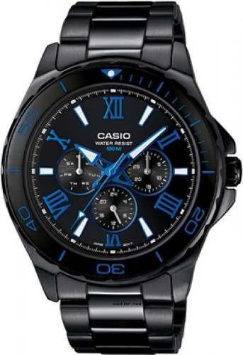 Reloj Casio Hombre Plateado Mtd-1075bk-1a2vdf