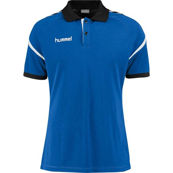 Camisa Polo Unissex Azul E Preto