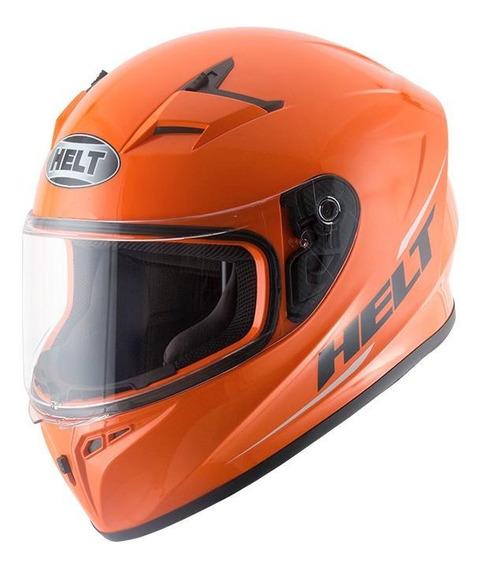 Capacete para moto integral Helt Street Polar laranja M