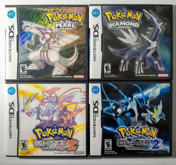 Lote 6 Jogos Pokemon X, Black 2, Soul Silver, Diamond, Etc