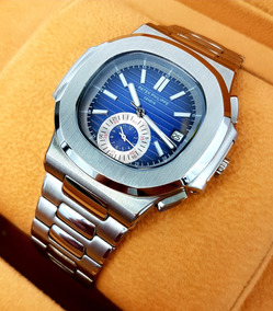 Reloj Patek Philippe Nautilus Acero Esfera Azul Chrono Aut