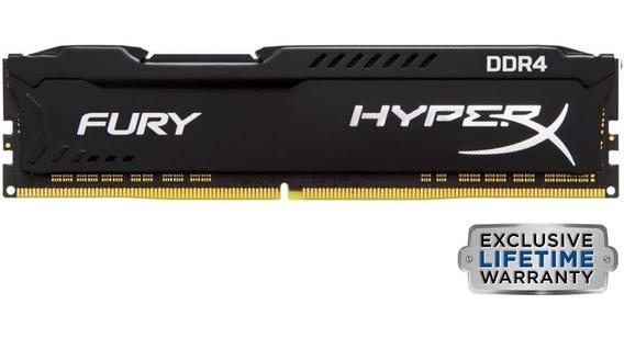 Kit Memórias Hyperx Fury 2x4gb 2666mhz Ddr4 Preta