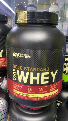 100%whey Gold Standar 5lb Aumento De Masa Muscular Sin Grasa