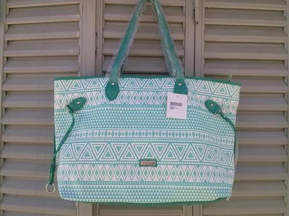 Cartera Xl Extra Large Nueva Tote Bag Verde Con Etiqueta!