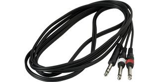 Cable Warwick Rcl 20924 D4 1 Plug Estereo A 2 Plugs Mono 3mt