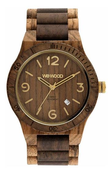 Relógio, Wewood, Alpha Sw Zebrano Choco Rough