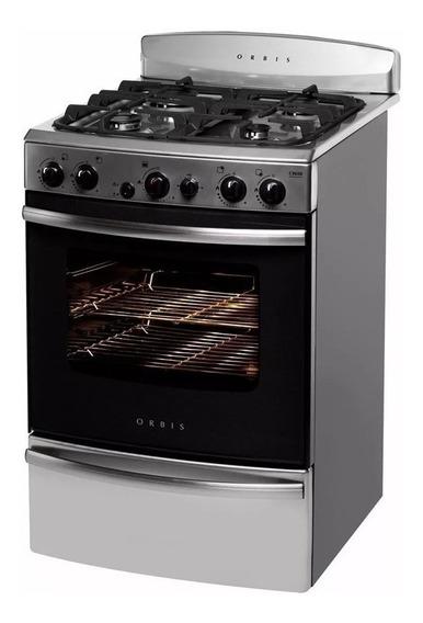 Cocina Orbis Gas 968ac3 Fundicion Acero Inox. C/ Envío Caba