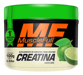 10x Creatina 100g Monohidratada Com Sabor Muscle Full