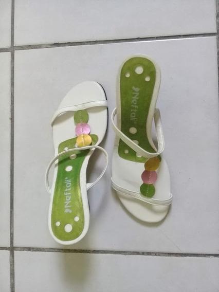 Sandália Verde Salto Estilo Plataforma