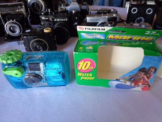 Máquina Fotográfica Fuji Film, Modelo Marine Water Proof 10m
