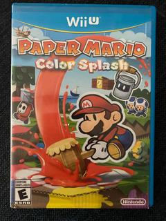 Paper Mario Color Splash Nintendo Wii U