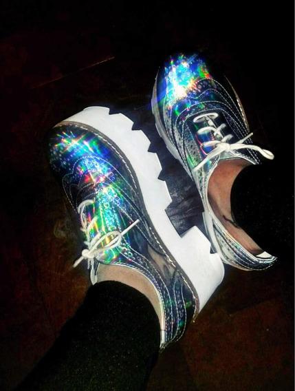 Zapato Nazaria Tornasol Plateado