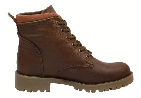 Zapatos Dama Estilo Botin Casual Comodo 33-cleo Cafe Mosca