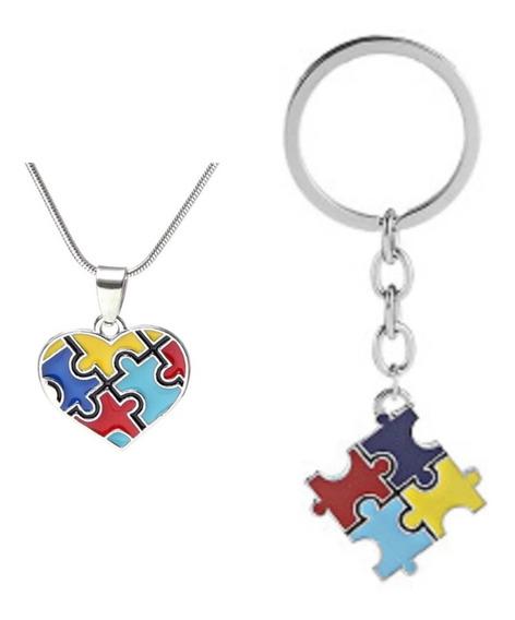 Autismo, Set, Llavero,cadena,collar, Dije,concientización.
