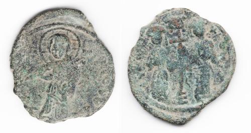 Imagen 1 de 3 de Moneda Bizantina Constantine X & Eudocia (1059-1067 Dc) L143